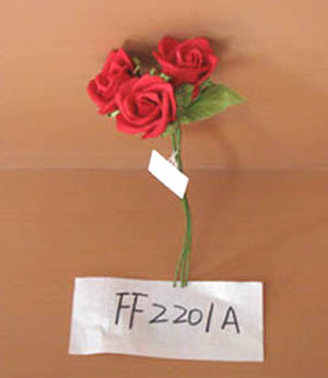 Artificial rose flowers,EVA red rose bundle - FF2201A