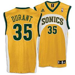 NBA Sonics Kevin Durant Home Jersey - 031913501