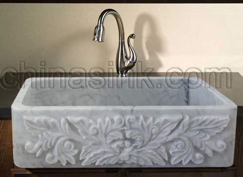 Carrara-marble-farm-sink-project-03 - Farm sink 3