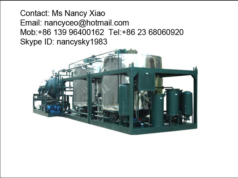 Waste Motor Oil Management Machine Oil Recycling Lye