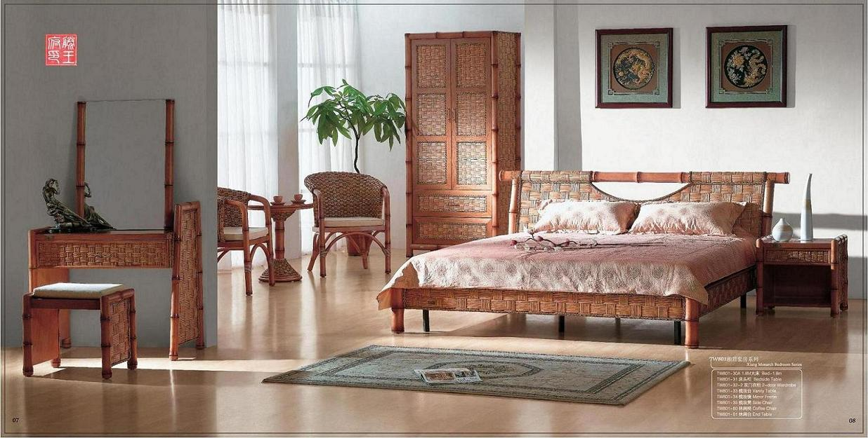 Indoor rattan bedroom furniture (1) - TW 801-30 A