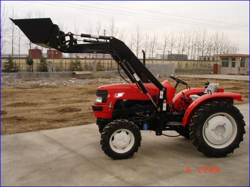 tractor with front loader and backhoe - TY254C-1