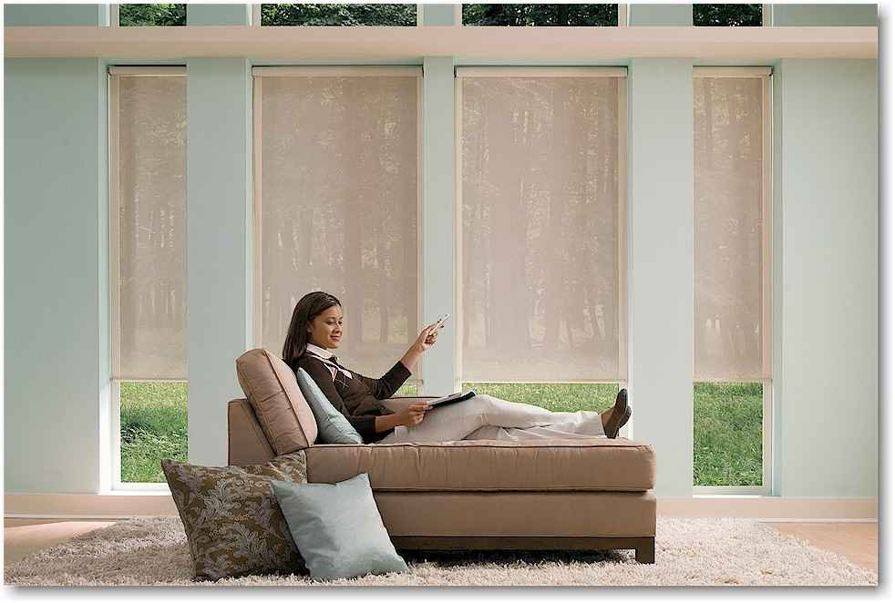 Remote blinds 2017 grasscloth wallpaper for Motorized blinds remote control