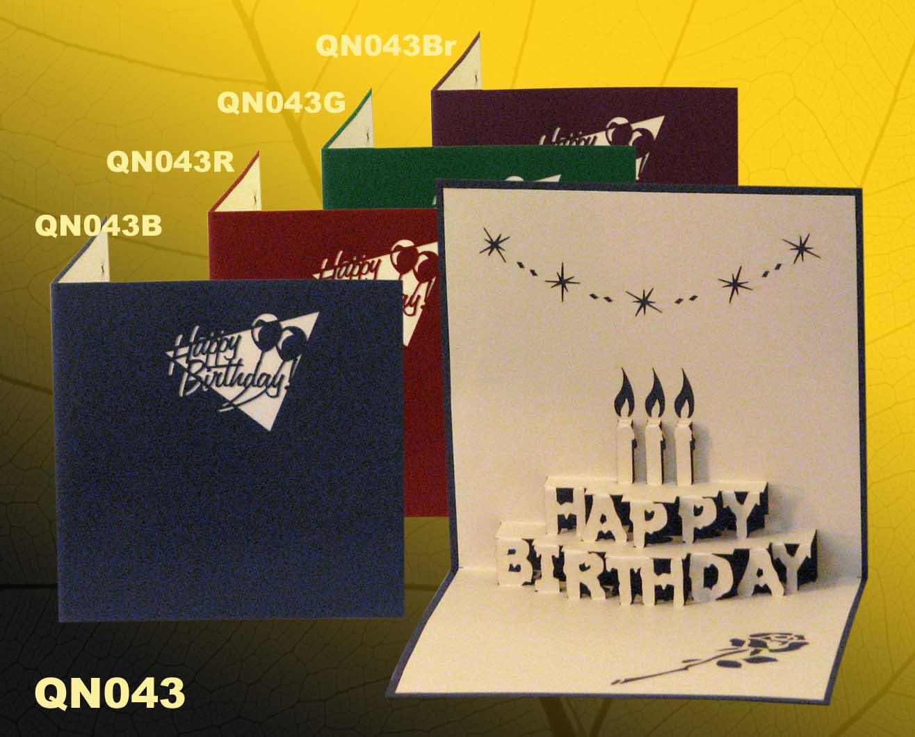 Birthday Cake Pop Up Handmade Greeting Cards