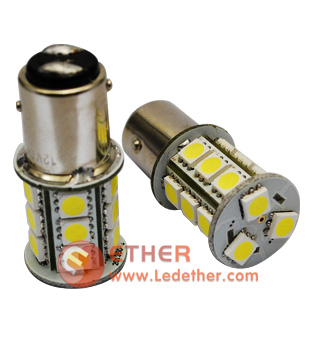 T20 1157 SMD 18leds car light - T20-1157-18-led-W