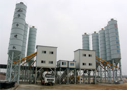 HZS concrete batching plant in China - HZS