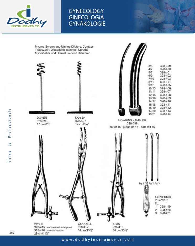 DODHY Gynecology Instruments - 328-396
