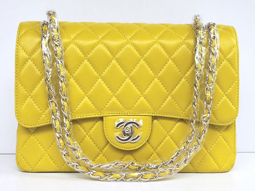 Chanel Classic Flap Shoulder Bag 1113 Yellow - 1113