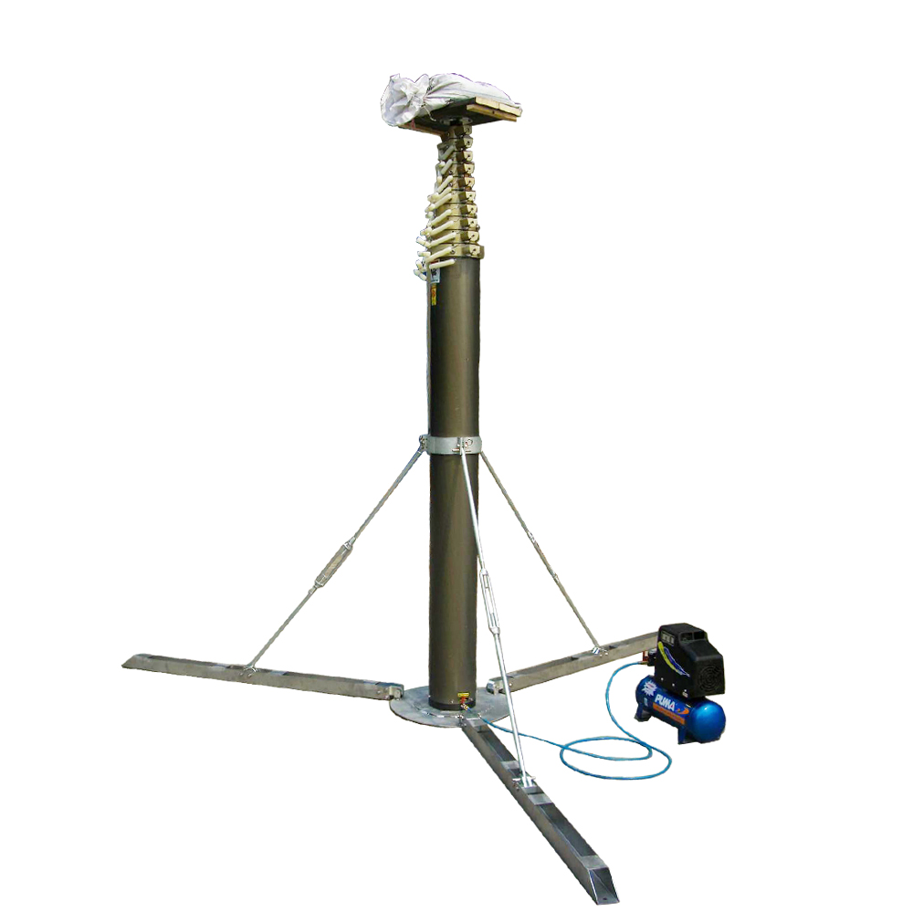 Portable Telescopic Light Tower: Light Tower Mounting Antenna Telescopic Mast