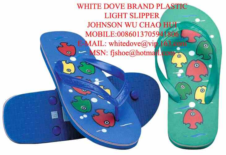 most cheap white dove pvc slipper - 790