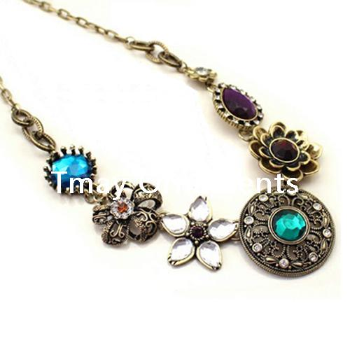 Alloy antique bronze plated necklace - NKE0919