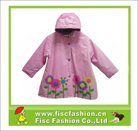 Girls Shiny PVC Raincoat Jacket - PVCJ007