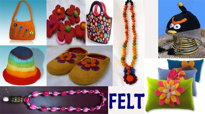 Felt items from Nepal - wholesale handicraft.com