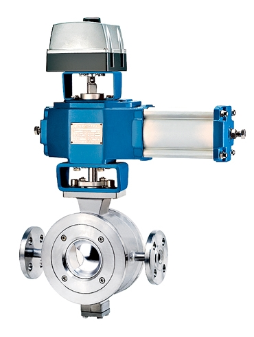 Steam Jacketed Segment Ball Control Valve - RV