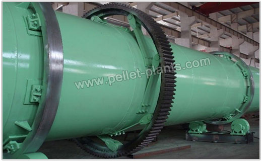 Rotary Drum Dryer for Wood Materials - TRM-GTHG0606