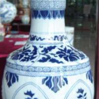 Large picture ceramic vase