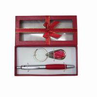 Large picture key chain+pen for gift set