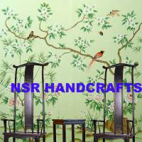 Large picture Hand-painted silk wallpaper