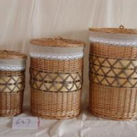 Large picture storage baskets