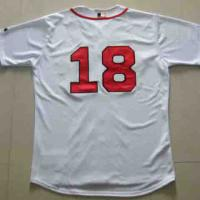 Large picture MLB RedSox #18 Home Jersey www.fine-supply.com