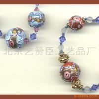 Large picture coloured glaze beads
