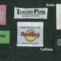 Large picture woven label