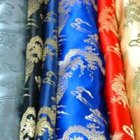 Large picture silk brocade satin fabric