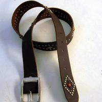 Large picture leather ladies' belts