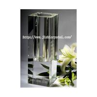 Large picture crystal trophy