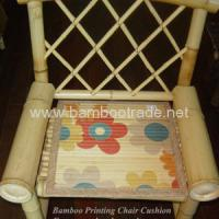 Large picture Bamboo printing chair cushion