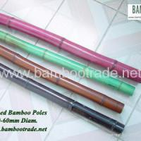 Large picture Stained bamboo poles