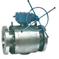 Large picture trunnion ball valve