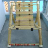 Large picture bamboo chair and bamboo table