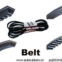 Large picture timing belt, cogged v belt, ribbed belt