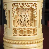 Large picture Bamboo carving pencil vase