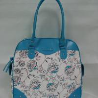 Large picture canvas handbag
