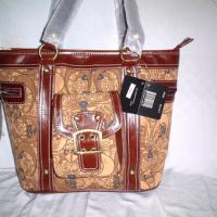 Large picture coach handbag