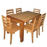 Large picture bamboo dining room set