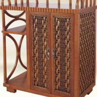 Large picture Indoor rattan tea cabinet