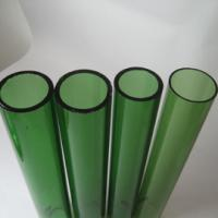 Large picture green glass tube