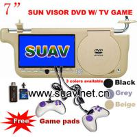 Large picture 7inch Sun Visor DVD player,car video media system,
