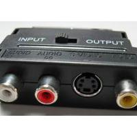 Large picture SCART splitter,SCART to 3 RCA adapter