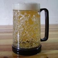 Large picture frosty beer mug