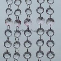 Large picture Acrylic Octagon Crystal Beaded Chains for Chandeli