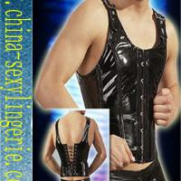 Large picture pvc men catsuit