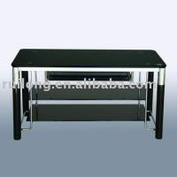 Large picture glass tv stand