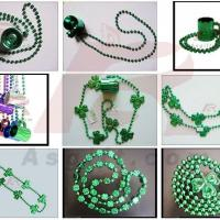 Large picture St.patrick's shamrock necklace with beer cup