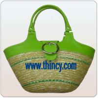 Large picture straw bag