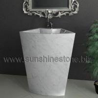Large picture Carrara pedestal sink and washbasin 72