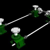 Large picture Multiple Worm Gear Screw Jack Systems